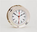 12/24 HOUR CLOCK NICKEL PLATED BRASS 90069
