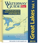 "Updated annually, Waterway Guide's Great Lakes 2016 edition is the indispensable cruising companion for boaters exploring the Great Lakes and the inland portions of the Great Loop Cruise from New York to the Great Lakes and from Chicago to the Gulf of Mexico. The guide features mile-by-mile navigation information, aerial photography with marked routes, marina listings and locator charts, anchorage information and expanded ""Goin' Ashore"" articles on ports along the way. Helpful cruising data like GPS waypoints, detailed planning maps, distance charts and bridge tables help get cruisers there safely. Flexible spiral binding and heavy laminated covers with bookmarker flaps ensure durability and easy use in the cockpit and at the helm"