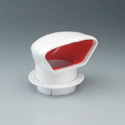 4in LO-PRO PVC COWL VENT - RED INTERIOR