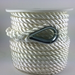 PRE-SPLICED 3-STRAND TWISTED NYLON ANCHOR LINES