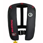 "This easy to wear and easy to use inflatable PFD features Membrane Inflatable Technology inside to reduce weight and create a lighter and more flexible fit. Manual inflation 500 Denier Cordura outer shell inflator inspection window and easy access flap to inflation cannister 1-fold, easy to repack design Provides 26 lb buoyancy when inflated, more than 1.5 times that of most foam PFD's Mustang model MD2016 02 Universal adult size, age 16+, weight 80+, chest 30-52"" USCG Type III, Type V commercial"