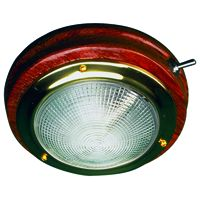 TEAK/BRASS DOME LIGHT 5-3/4 IN SD4001961